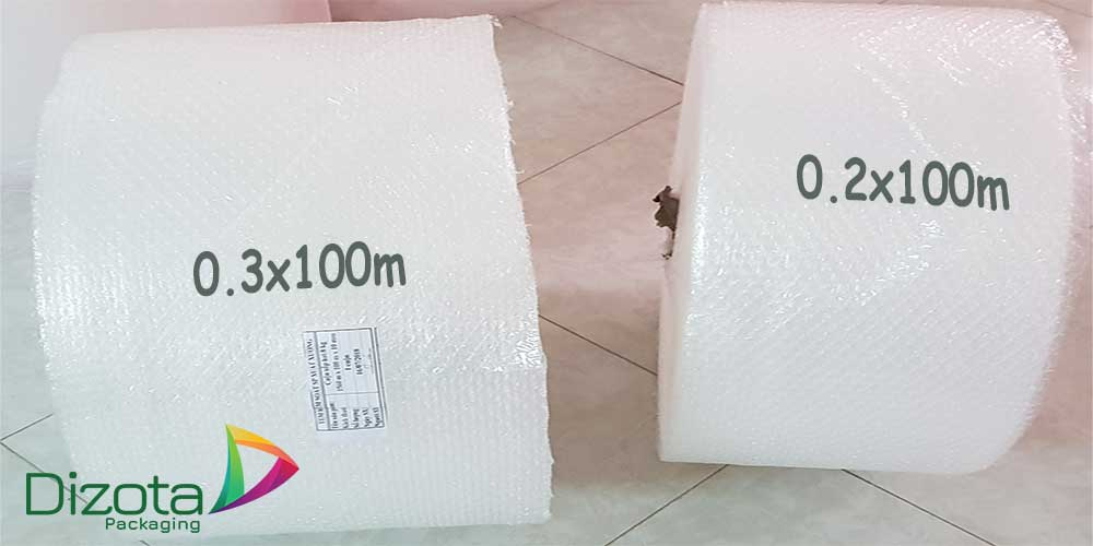 Cuộn xốp bong bóng khí gói hàng dễ vỡ