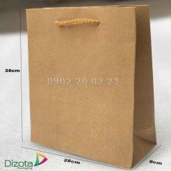 Túi giấy xi măng có quai 36x28x9cm